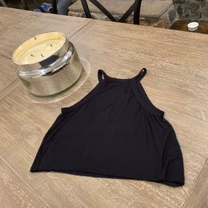 Brandy Melville Black Crop Tank